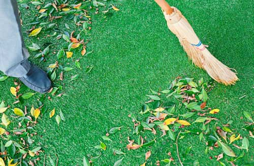Artificial Lawn Maintenance Caring Artificial Turf Synthetic Grass Living